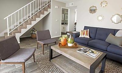 Living Room, Villa Grande Townhome Apartments, 0