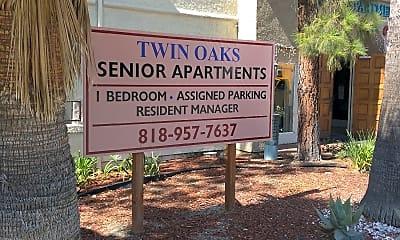Twin Oaks Senior, 1