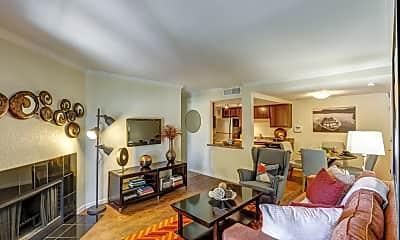 Living Room, Copper Flats Apartments, 1