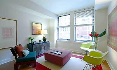 Living Room, Marquette Apartments, 1