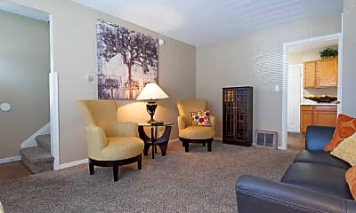 Living Room, Brentwood Park Apartments, 1