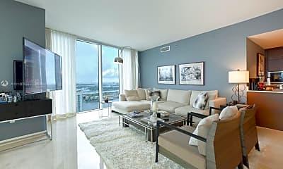 Living Room, 465 Brickell Ave 5302, 1