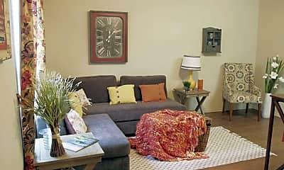 Living Room, Elm Creek Apartments, 1