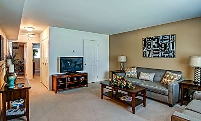 Living Room, Rosedale Apartments, 1