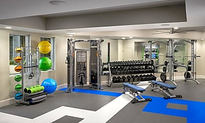 Fitness Weight Room, Norte Town Lake Apartments, 1