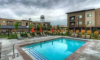 Pool, 2550 South Main Apartments, 0