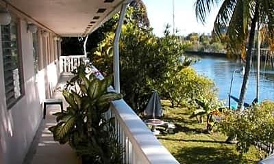 Patio / Deck, Bermuda House Apartments, 2