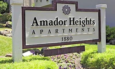 Community Signage, Amador Heights, 2