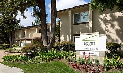 Community Signage, eaves Cerritos, 2
