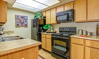 Kitchen, Villas on Apache ASU Off Campus Housing (By-the-Bed Pricing), 2