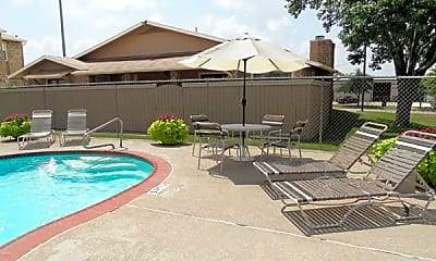 Pool, Living Oaks Apartments, 1