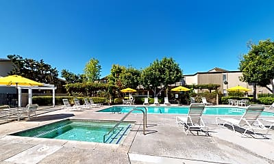 Pool, Newport Village Apartments, 2