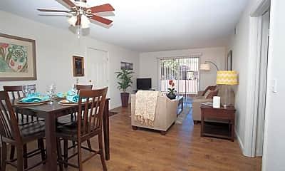 Living Room, Abbott Acres Apartments, 1