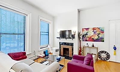 Living Room, 423 Shawmut Avenue, Unit 3, 0