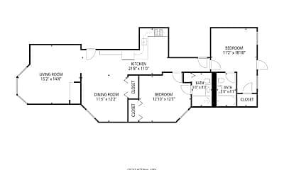 Bedroom, 1032 W Byron St, 1