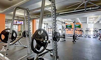 Fitness Weight Room, Advenir at French Quarter, 2