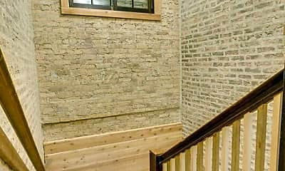 2610-12 N. Fairfield Staircase looking donw, 2612 N Fairfield Ave, 2