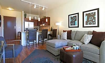 Living Room, Avenir Apartments, 1