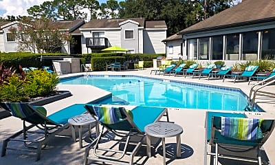 Pool, Palm Trace Apartment Homes, 1