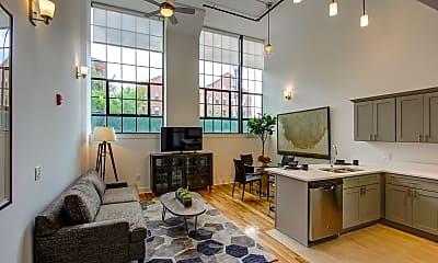 Living Room, Lafayette Lofts, 1