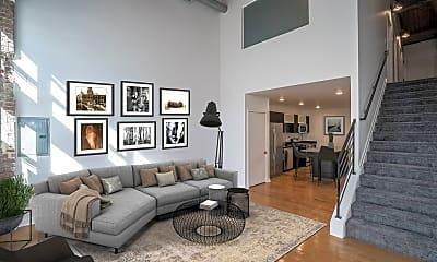 Living Room, Iron Mill Lofts, 0