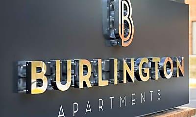 Community Signage, The Burlington Apartments, 0