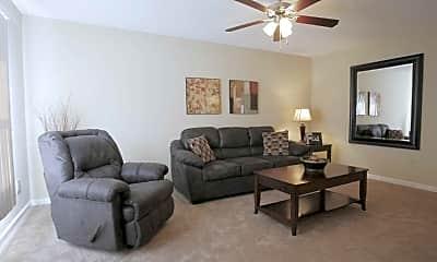 Living Room, River Crest Apartments, 1