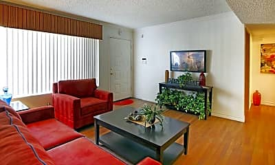 Living Room, Parkwood Apartments, 1