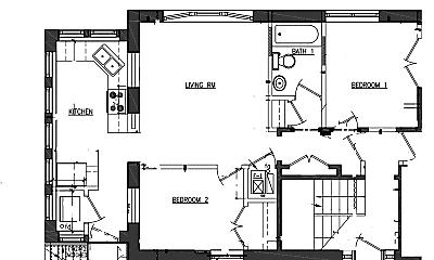 Building, 4740 N Malden St, 2