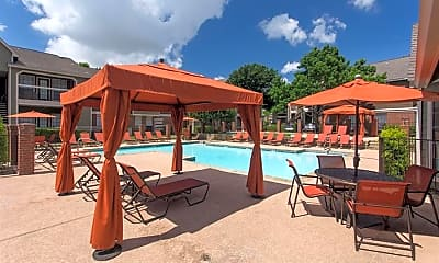 Pool, The Residence at North Dallas Apartments, 1