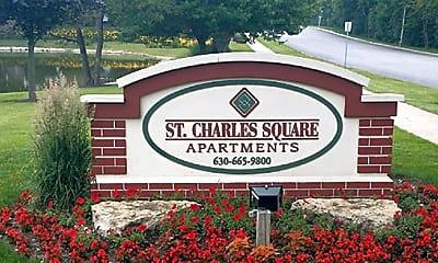 Community Signage, St. Charles Square, 1