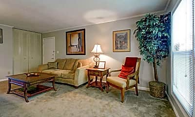 Living Room, Olde Towne Apartments, 1