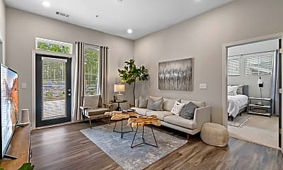 Living Room, The Newton Apartments, 1