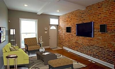 Living Room, 605 S Macon St., 1