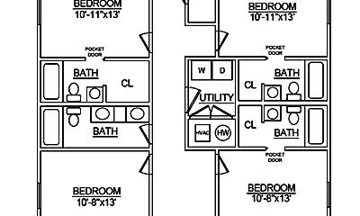 Bathroom, 512 E Cherry St, 2
