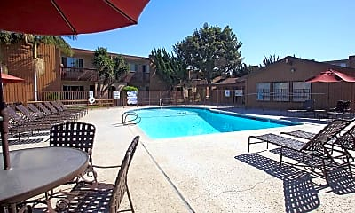 Pool, Sunset Villa Apartments, 0