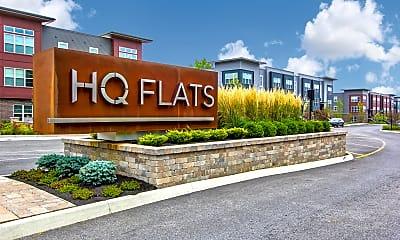 Community Signage, HQ Flats, 2