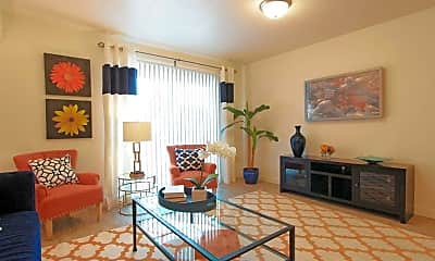 Living Room, Center Court Apartments, 1