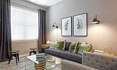 Living Room, 757 North Apartments, 1