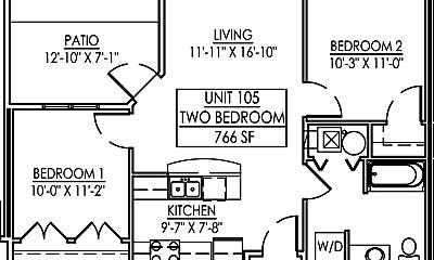 Bedroom, 119 Crystal St, 2
