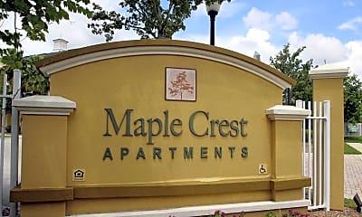 Community Signage, Maple Crest Apartments, 2