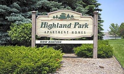 Community Signage, Highland Park, 2