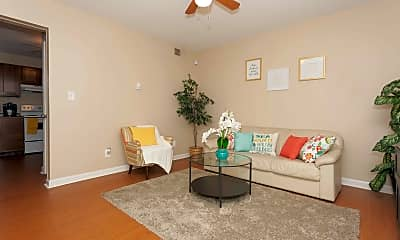 Living Room, The Lux Townhomes, 1