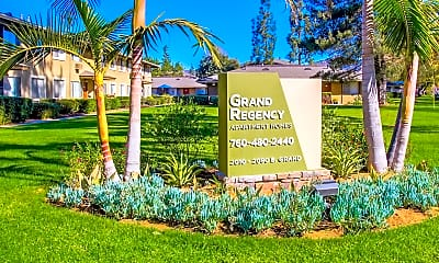 Community Signage, Grand Regency Apartments, 0