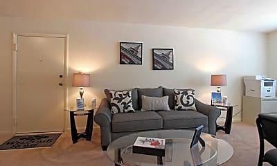 Living Room, Apollo Apartments, 1