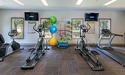 Fitness Weight Room, The Retreat at Lakeland Apartments, 2