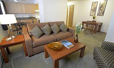 Living Room, Rockport Apartments, 1