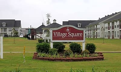 Community Signage, Village Square Searcy, 1