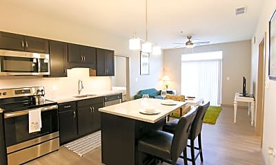 Dining Room, The Flats at 345, 1