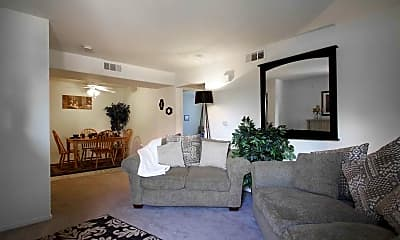 Living Room, South Valley Apartments, 1